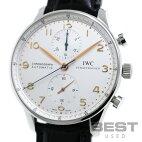【仮】インターナショナル・ウォッチ・カンパニー【IWC】ポルトギーゼクロノグラフIW371445メンズシルバーステンレススティール腕時計時計PORTUGUESECHRONOGRAPHSILVERSS【中古】