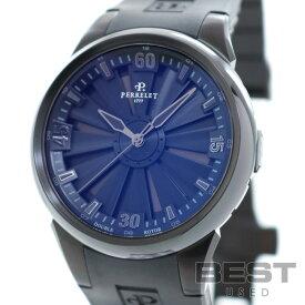 ペルレ 【PERRELET】 タービン A1047/2 メンズ ブラック ステンレススティール(DLCコーティング) 腕時計 時計 TURBINE BLACK SS(DLC) 【中古】