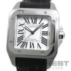 【仮】カルティエ【CARTIER】サントス100MMW20106X8ボーイズシルバーステンレススティール腕時計時計SANTOS100MMSILVERSS【中古】