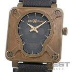 【仮】ベル&ロス【BELL&ROSS】BR0192-SKULL-BR/SCAメンズブラウンブロンズ腕時計時計BR01-92SKULLBRONZEBROWNBR【中古】