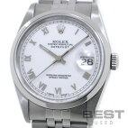 【仮】ロレックス【ROLEX】オイスターパーペチュアルデイトジャスト16200メンズホワイトステンレススティール腕時計時計OYSTERPERPETUALDATEJUSTWHITESS【中古】