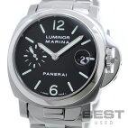 【仮】オフィチーネ・パネライ【OFFICINEPANERAI】ルミノールマリーナPAM00050(OP6625)メンズブラックステンレススティール腕時計時計LUMINORMARINABLACKSS【中古】