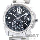 【仮】カルティエ【CARTIER】カリブルドゥカルティエW7100016メンズブラックステンレススティール腕時計時計CALIBREDECARTIERBLACKSS【中古】