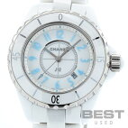 【仮】シャネル【CHANEL】J12ブルーライトH3826レディースホワイトセラミック腕時計時計J12BLUELIGHTWHITECE【中古】