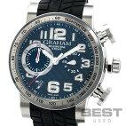 【仮】グラハム【GRAHAM】シルバーストーン2SAAC.B63Aメンズブラックステンレススティール腕時計時計SILVERSTONEBLACKSS【中古】
