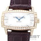 【仮】パテック・フィリップ【PATEKPHILIPPE】ゴンドーロジェンマ4981R-001レディースホワイトシェルK18ローズゴールド腕時計時計GONDOLOGEMMAWHITESHELLK18RG【中古】