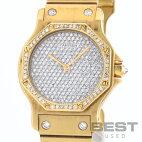 【仮】カルティエ【CARTIER】サントスオクタゴンメンズシルバー(ダイヤモンド)K18イエローゴールド腕時計時計SANTOSOCTAGONSILVER(DIAMONDS)K18YG【中古】