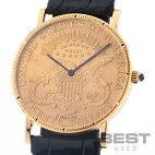 【仮】コルム【CORUM】コインウォッチ20$コイン-メンズゴールドK18イエローゴールド腕時計時計COINWATCH20$GOLDK18YG【中古】