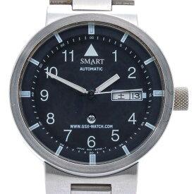 ジーエスエックス 【GSX】 GSX205SBK SMART no.13 オートマティック 腕時計 時計 シルバー silver ブラック BLACK SS 【中古】