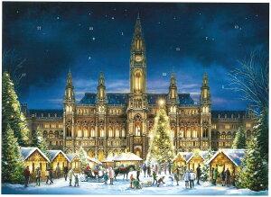 アドベントカレンダー ドイツ製 クリスマス クリスマスイブ カレンダー カウントダウン ギフト ウイーン 可愛い イベント インテリア カレンダー おもちゃ サンタ プレゼント 子供 喜ぶ 孫
