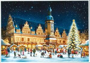 アドベントカレンダー ドイツ製 クリスマス クリスマスイブ カレンダー カウントダウン ギフト ドイツ ライプツッヒ 可愛い イベント インテリア カレンダー おもちゃ サンタ プレゼント