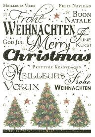 クリスマスカード グリーディングカード 輸入カード オランダ QUIRE クワイヤー 定型サイズ 封筒付き 箔押し エンボス加工 ツリー