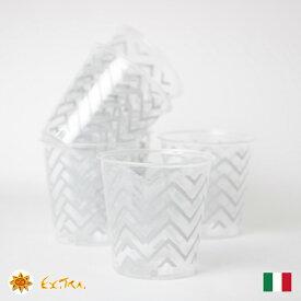 Exclusive Trade プラスチックコップ 8個入り 300ml イタリア製 カップ パーティー食器 おしゃれ プラスチックカップ イベント ホームパーティー お誕生日 バースデイ イベント ピクニック アウトドア BBQ 使い捨て食器 高級 女子会
