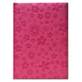 【B5 輸入 ノート】イタリア製 B5エンボス ノートブックBloom Pink Pierre Belvedere(ピエール ベルベデーレ)【輸入文具 ステーショナリー】