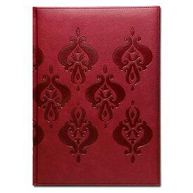 【B5 ノート ボルドー】イタリア製 輸入 B5エンボス ノートブック Arabesque Bordeaux Pierre Belvedere(ピエール ベルベデーレ)【文具 ステーショナリー】