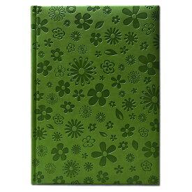 【B5 ノート 花柄 グリーン】イタリア製 おしゃれな B5エンボス ノートブック Bloom Wasabi Pierre Belvedere(ピエール ベルベデーレ)【輸入文具 ステーショナリー】