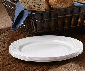 Mozaik 19cm 6枚入り パール プレート 6枚入りプラスチックプレート プラスチック皿 パーティー食器 パーティー ケータリング 使い捨て ホームパーティー 女子会 BBQ ハロウイン