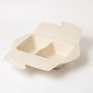 フードパック 150入り バガス210x150x60mm 丈夫 業務用 レンジOK ランチボックス 使い捨て エコ カフェ丼 サスティナブル 再生紙 紙容器 おしゃれ カフェ 環境配慮 食品容器 2コンボ 弁当箱 紙製