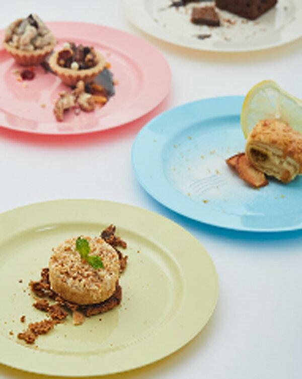 Mozaik Macaron Color プラスチック製 マカロンカラー ラウンド プレート 19cm 8枚入り プラスチックプレート プラスチック皿  使い捨て  パーティー食器 イベント バースデー 女子会 食器 パステルカラーホームパーティー BBQ ピクニック リユース可