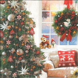 Ambiente アンビエンテ クリスマス ペーパーナプキン おしゃれ 20枚入 ペーパーナプキン デコパージュ ホームパーティー 北欧 好きにも 紙ナプキン ランチサイズ オランダ ペーパーナプキン素敵 可愛い 女子会 誕生日 パーティー 花柄 高品質 ラッピング BBQ 33x33cm