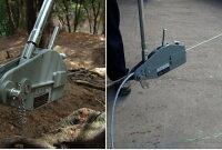 【あす楽対応】送料無料新タイプ入荷ハンドウインチ万能携帯ウインチレバーホイストチルホール800kg農機機械移動伐採高品質半年保証