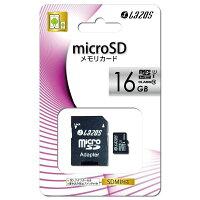 LAZOSmicroSDカード16GBClass10メモリーカード