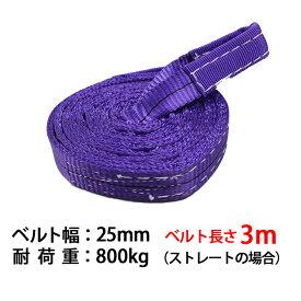 スリングベルト スリング 幅25mm 3m 使用荷重800kg 高品質 ナイロンスリング ベルトスリング 繊維ベルト 吊ベルト