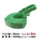 新モデル!! スリングベルト 幅50mm 8m 使用荷重1600kg 高品質ナイロンスリング ベルトスリング 繊維ベルト