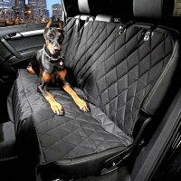 ペット用ドライブシート車用ペットシートカーシートカバー防汚防水滑り止めカーペット後部座席シート(ブラック)