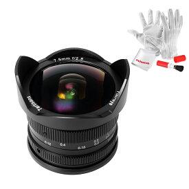 「&正規品」七工匠7artisans 7.5mm f2.8魚眼レンズ Fujiミラーカメラ用 APS-Cサイズ対応 Fish-eye II