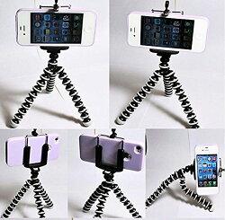 あす楽無料】スマートフォン用三脚ホルダーデジカメスタンドスマホ対応iPhoneアイフォンアンドロイドXperiaエクスペリアギャラクシーgalaxyクネクネ三脚
