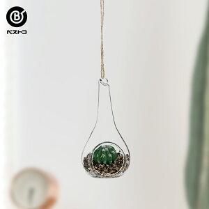フェイク テラリウムグリーン ハンギングシズク 2 | 観葉植物 壁掛け 壁かけ フェイク ミニ 人工観葉植物 造花 多肉植物 小さい インテリアグリーン おしゃれ プレゼント ギフト コンパクト