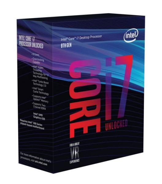 ◆通販限定特価!お一人様1個の限定価格となります。【Intel】Core i7-8700K Box 3.7GHz BX80684I78700K