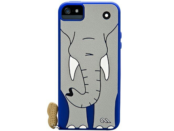 ◆○iPhone5ソフトケース クリーチャーズ エレファント【ケースメイト(CASE-MATE)】CM022555 [Blue] エレファント