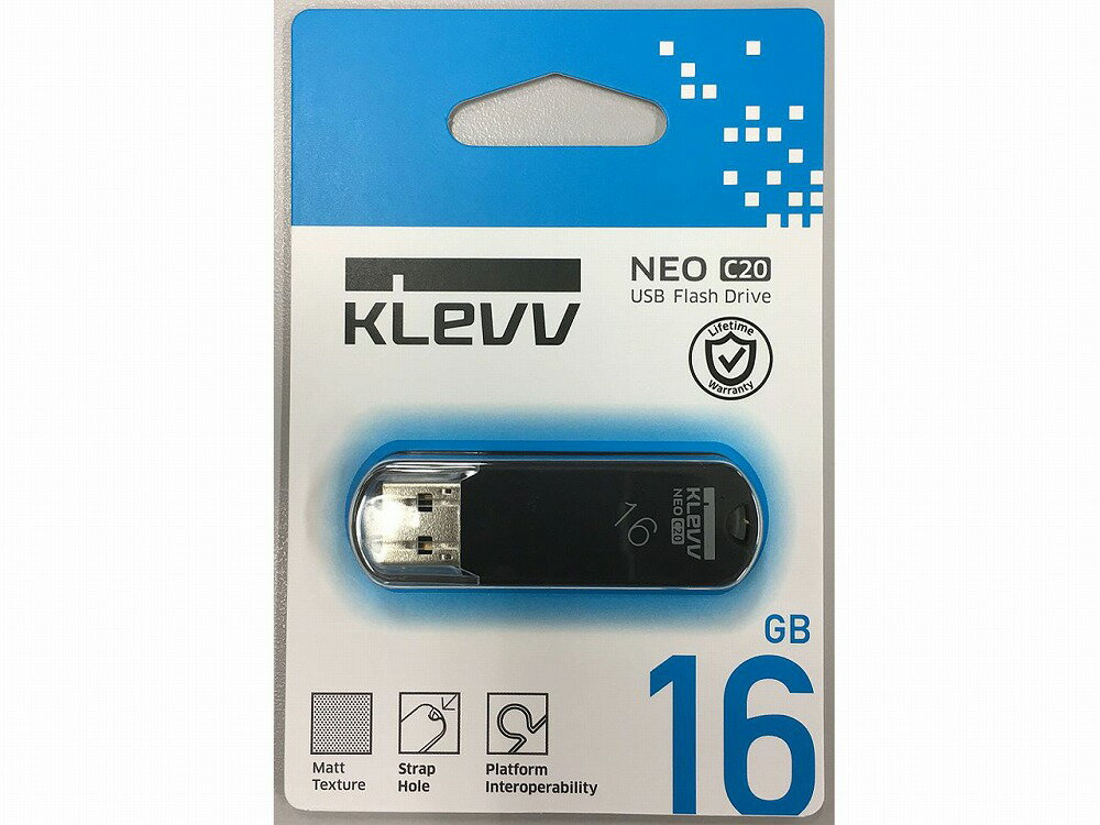 ◆○在庫特価品!USB2.0/キャップ式(注意:非常にキャップのふたが固いです)【ESSENCORE】KLEVV U016GUR2-NB