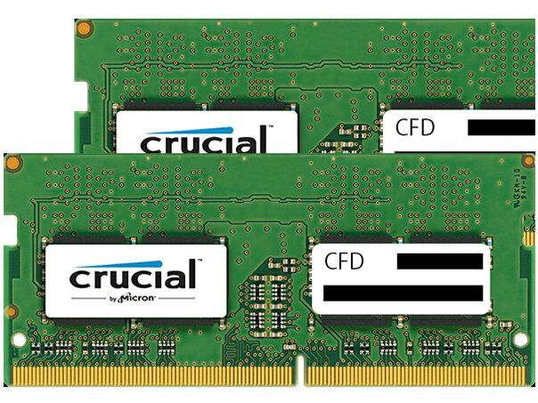 ◆○DDR4メモリ【Crucial (CFD)】W4N2400CM-8G (8GX2枚)