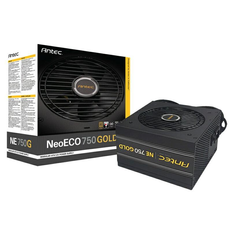 ◆80PLUS GOLD認証取得、高効率高耐久静音電源ユニット【ANTEC】NeoECO Gold NE750G