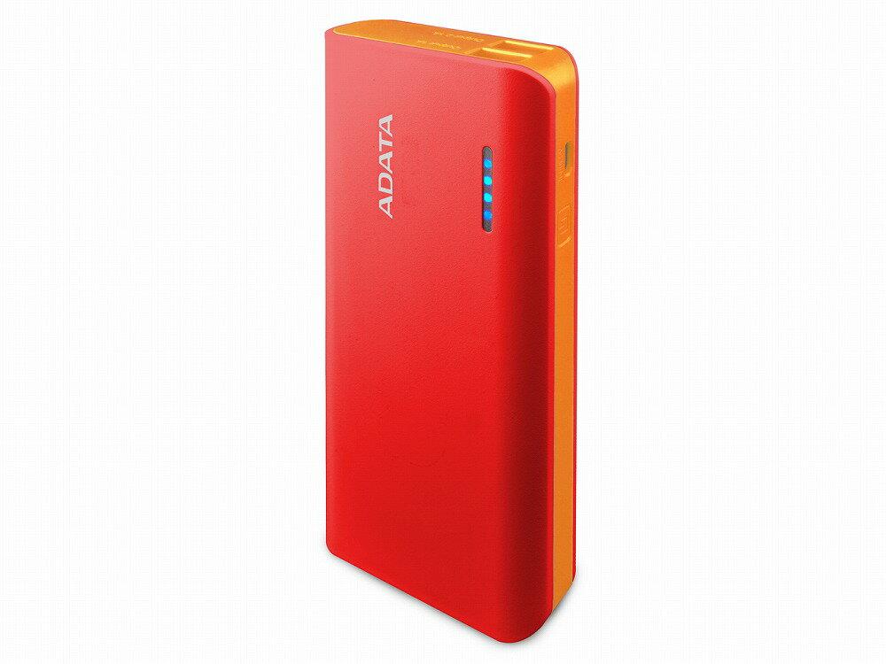 ◆○PSE付/10000mAhモバイルバッテリー【ADATA】APT100-10000M-5V-CRDOR 赤/オレンジ (PSE)