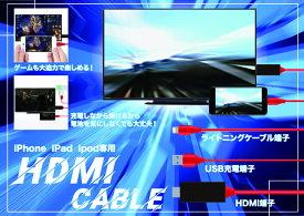 ◆○スマートフォンの写真や動画などをTVなどへ変換!(充電端子も付いてます)【◇】変換HDMIケーブル  RS-E479 ライトニング端子
