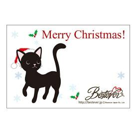 【ネコポス対応可 】メッセージカード 黒猫 クリスマス [M便 1/20]【ラッピング無料対応可】