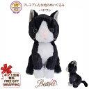 猫 ぬいぐるみ   プレミアムキティ ハチワレ【猫雑貨 リアルでかわいいネコ ぬいぐるみ 白黒 】【ラッピング無料対応可】【猫がか…