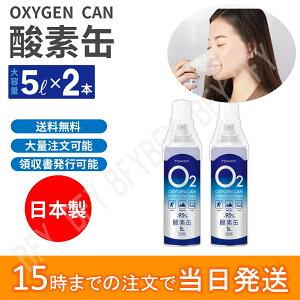 即納】あす楽】日本製 酸素缶 2本セット】携帯 酸素缶 酸素吸入器】長期使用期限2年間 【1本5リットル】 酸素濃度95% 携帯用濃縮酸素 携帯酸素スプレー 酸素ボンベ 酸素不足 救急 登山 スポ