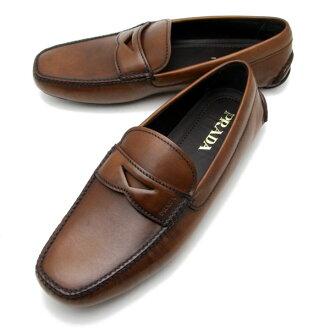 """""""要点五倍普拉达 (prada) 普拉达 (prada) 男装驾驶鞋 BRUCIATO (棕色) 2 DD001 3F33 038"""