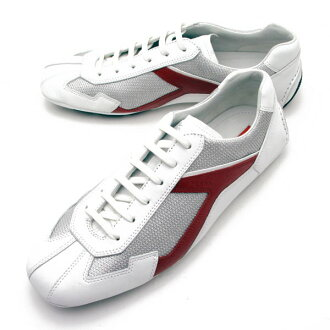 -Decrease-Prada PRADA mens leather shoes sneakers driving BIANCO+FUOCO 4E2791 3ORM 82 K
