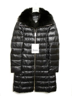 """Down coat BLACK (black) PI0650D 12017 9300 with the """"sale SALE"""" ヘルノ HERNO Lady's fur"""