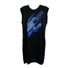 『セール SALE』バレンシアガ BALENCIAGAレディース Tシャツ ワンピース ブラック×ブルー 265783 TU9C1 1000【コンビニ受取】 【ロッカー受取】 【国際配送】
