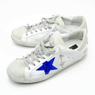 「세일 SALE」고르젱스 GOLDEN GOOSE 맨즈 로 컷 스니커 WHITE SKATE-HAND PAINTED STAR G33MS590 H36