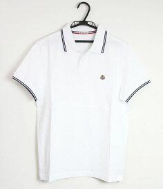 『セール SALE』モンクレール MONCLERメンズ ワンポイント ポロシャツ WHITE (ホワイト) 8304300 84556 001【送料無料】 【あす楽対応】 【コンビニ受取】 【ロッカー受取】 【国際配送】