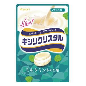 キシリクリスタル ミルクミントのど飴 71g 【4袋セット】【メール便】【お取り寄せ】(4901326130180-4)