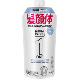 メンズビオレONE オールインワン全身洗浄料 フルーティーサボンの香り 詰替用 340g 【5個セット】【お取り寄せ】(4901301350138-5)